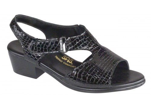 SAS Suntimer Black Croc